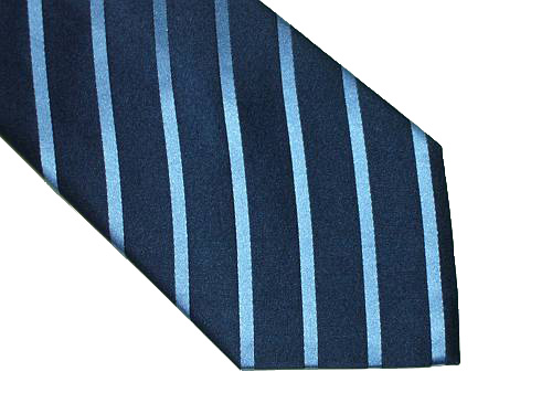 Kenneth Cole Reaction Silk Tie - Blue Diagonal Stripe