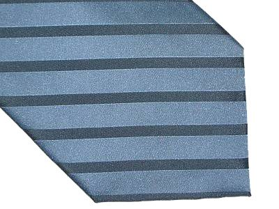 Claiborne Silk Tie - Diagonal Stripe Medium Blue on Blue