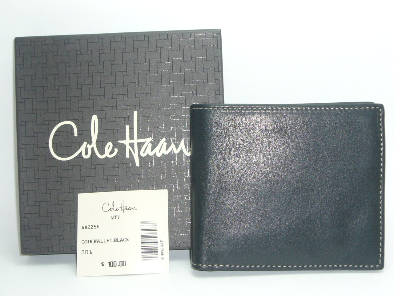 a642a9cb965 Cole Haan Leather Coin Wallet Black - Pinedale Collect - Old World ...