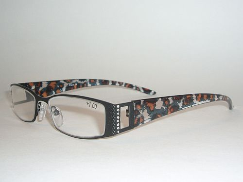 Reading Glasses 1.00 - Animal Print Black Gold Black Readers