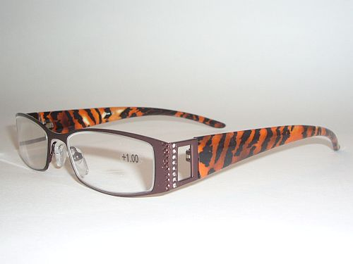 Reading Glasses 1.50 - Animal Print Black Orange Copper Readers