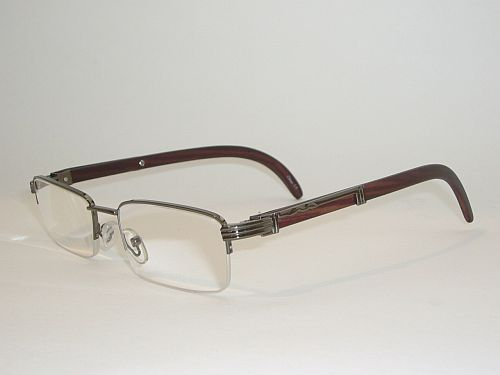 Reading Glasses 3.00 - Half Frame Silver Deep Brown