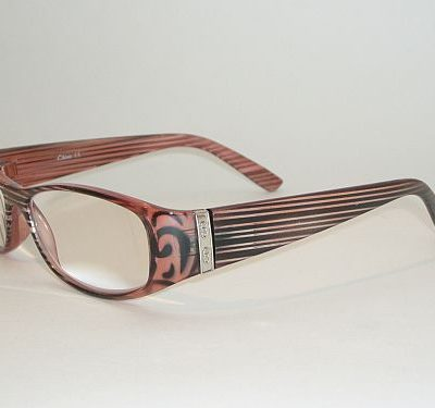 Reading Glasses 3.00 - Pink Black Stripes Readers