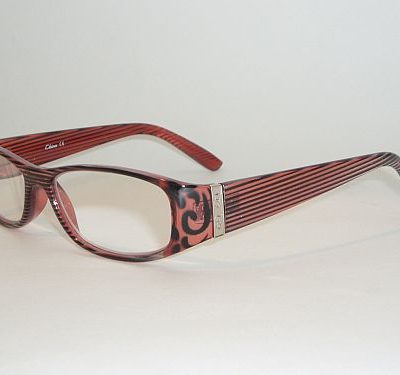 Reading Glasses 1.75 - Rose Black Stripes Readers