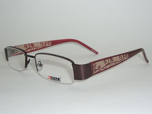 Reading Glasses 1.25 - Floral Red/Burgundy Readers