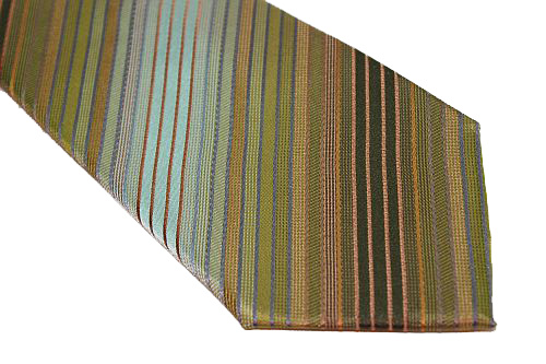 Kenneth Cole Reaction Tie - Shades of Green Diagonal Stripe