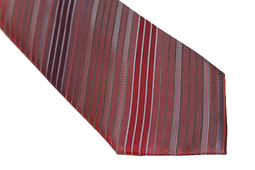 Kenneth Cole Reaction Tie - Shades of Red Diagonal Stripe