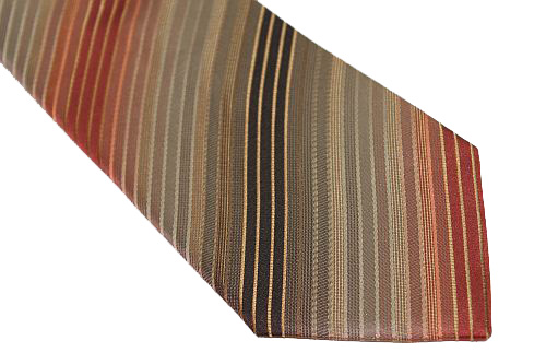 Kenneth Cole Reaction Tie - Shades of Brown/Tan Diagonal Stripe