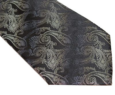 Kenneth Cole Reaction Tie - Paisley Black Blue