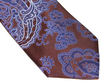 Sean John Tie - Brown Blue Paisley