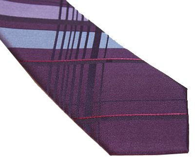 Calvin Klein Slim / Skinny Tie - Purple Steel Blue Pink