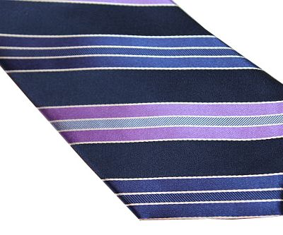 Michael Kors Tie - Diagonal Stripe Blue Purple