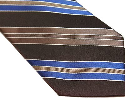 Michael Kors Tie - Diagonal Stripe Brown Blue