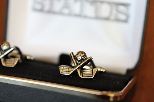 Golf Clubs and Ball Cuff Links