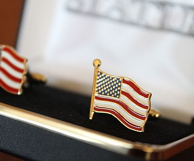 United States U.S. Flag Cuff Links