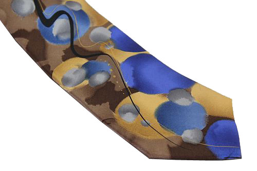 Jerry Garcia Tie XL - Nature Morte - Tan Brown Blue