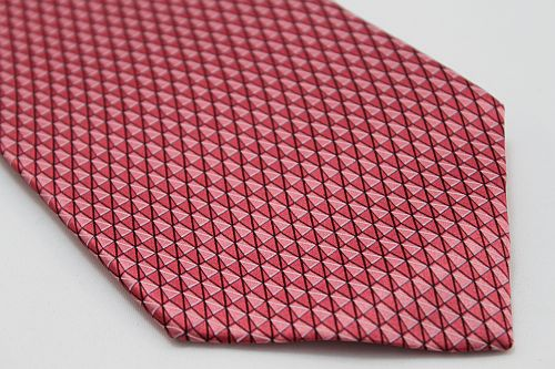 Lanae Joy Tie - Mini Triangles in Light Red, Pink & Mauve