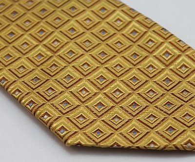 Lanae Joy Tie XL - Gold with Boxes of Silver