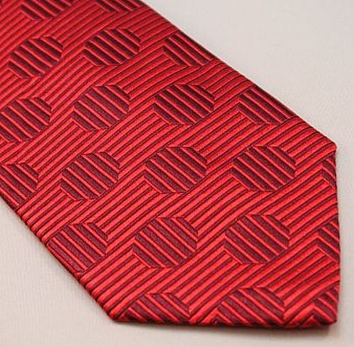 Lanae Joy Tie XL - Red on Red Circles & Lines