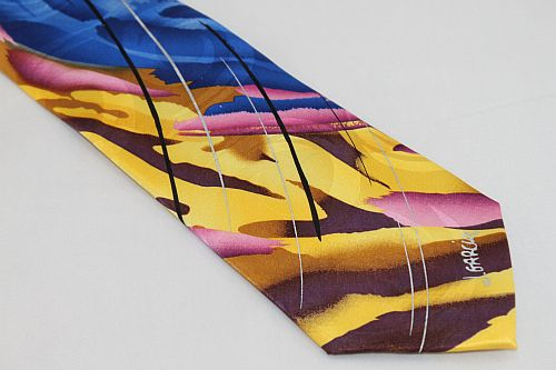 Jerry Garcia Tie - Lunch - Yellow Pink Blue