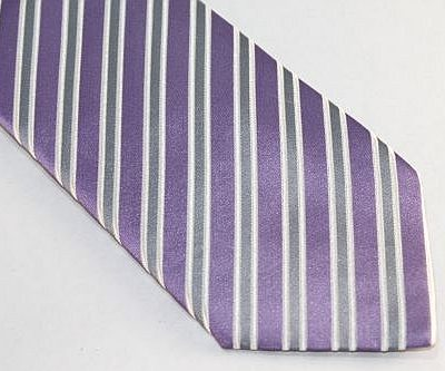 Lanae Joy Extra Long Tie Purple Gray White