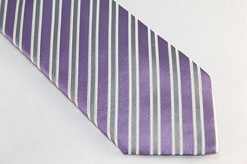 Lanae Joy Tie Purple Gray White