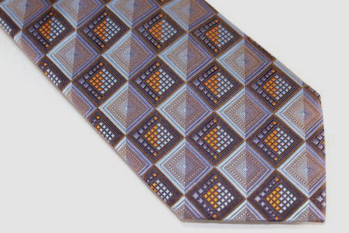 Lanae Joy Extra Long Tie Brown Blue