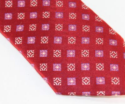 Lanae Joy Extra Long Tie Red Purple Pink White