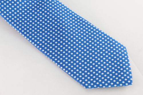 Ted Baker London Tie - Aqua Blue Polka Dot