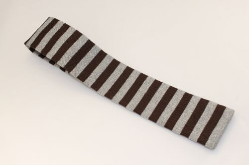 Ted Baker London Knit Tie Tan Brown Striped