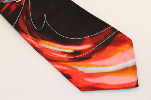 Jerry Garcia tie XL Black Red