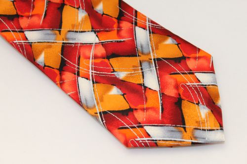 Jerry Garcia tie Red Orange Gray - Northern Lights