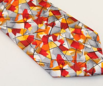Jerry Garcia Tie Red Orange Yellow