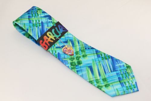 Jerry Garcia Tie Green Blue - Unknown Abstract - Wedding Lot