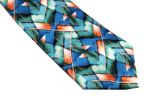 Jerry Garcia Tie XL Aqua Teal Orange