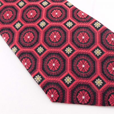 Bruno Piattelli Tie - Red Black Tan