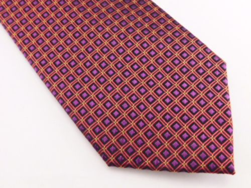 Bocara Tie - Purple Orange Yellow