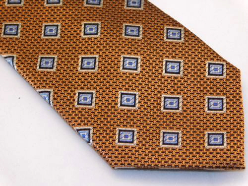 Bocara Tie - Copper Silver Blue