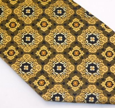 Bocara Tie - Brown Gold Copper
