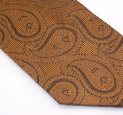 Zianetti Tie - Brown on Brown Paisley