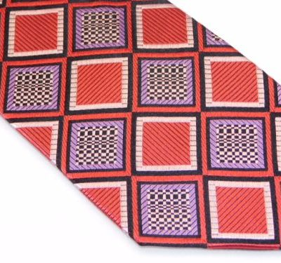 Zianetti Tie - Red Purple Black