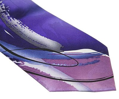 e26feed2994d Jerry Garcia Tie – Guy with Exploding Nose- Purple Lavender Silver