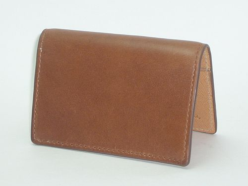 Cole Haan Leather Gusset Card Case Papaya - Paladino Collection