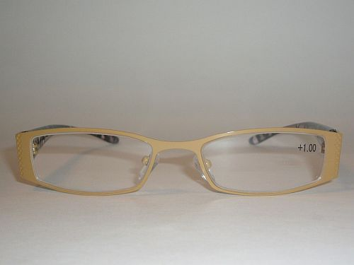 Reading Glasses 1.00 Animal Print Black Gray Gold