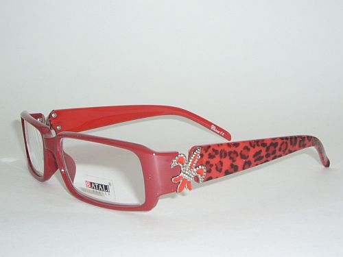 Reading glasses red - Cheetah with Red frame