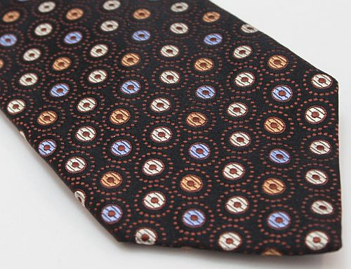 Lanae Joy Ties - Brown Blue - hand stitched in Italy; luxury, distinction