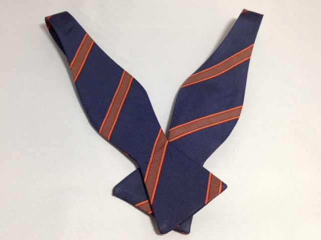 Lanae Joy Bow Ties Navy Blue - hand stitched in Italy; luxury, distinction