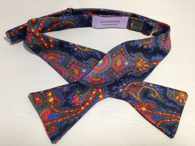 Lanae Joy Bow Ties Paisley - hand stitched in Italy; luxury, distinction